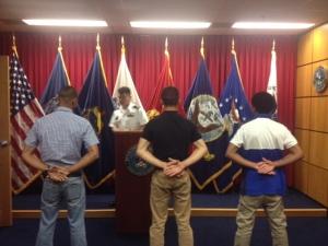 USMC swearing-in