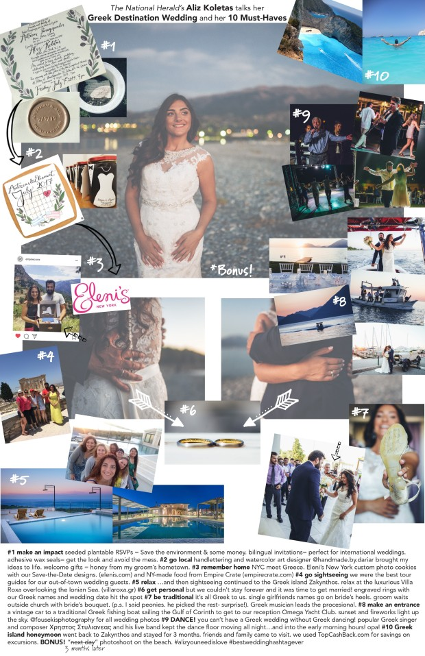 aliz greek dest wedding ten must haves list